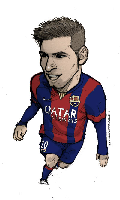 FC Barcelona - Lionel Messi fan art