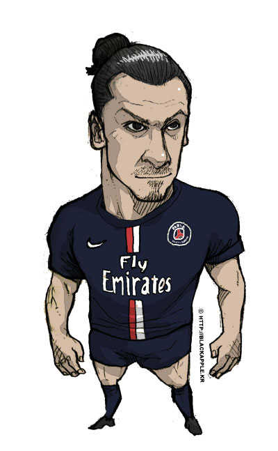 PSG - Zlatan Ibrahimovic fan art