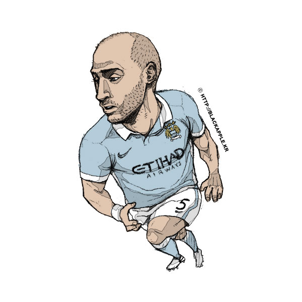 2015/16 Season Pablo Zabaleta Fan Art