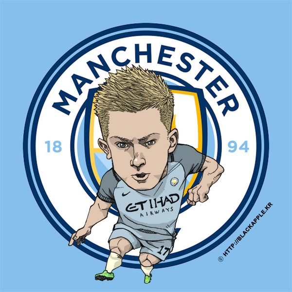 Blackapple Manchester City Fc Fan Art 201617 Season Kevin De