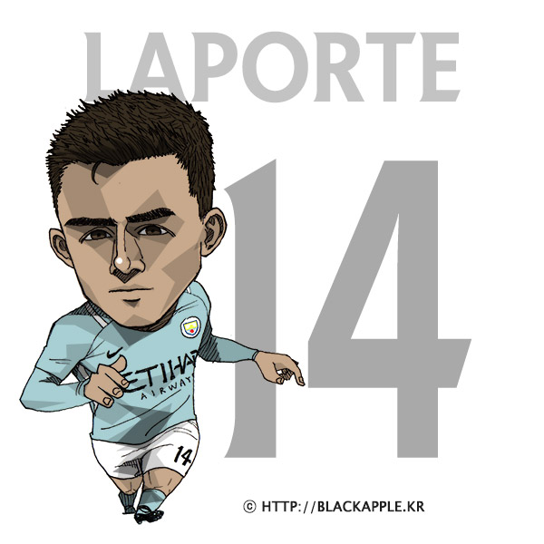 17/18 Season Mancity No.14 Aymeric Laporte Fan Art