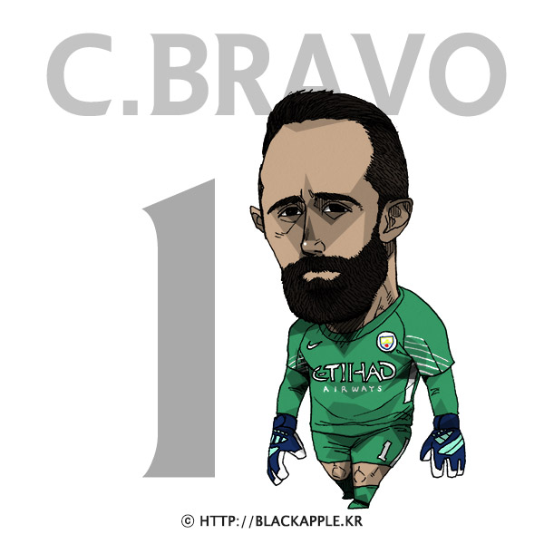17/18 Season Mancity No.1 Claudio Bravo Fan Art
