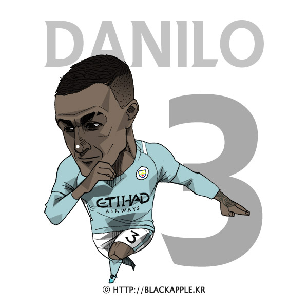 17/18 Season Mancity No.3 Danilo Fan Art
