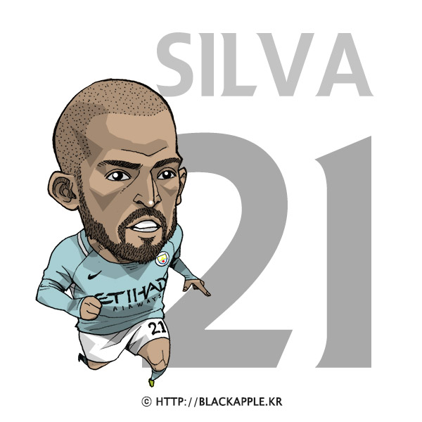 17/18 Season Mancity No.21 David Silva Fanart