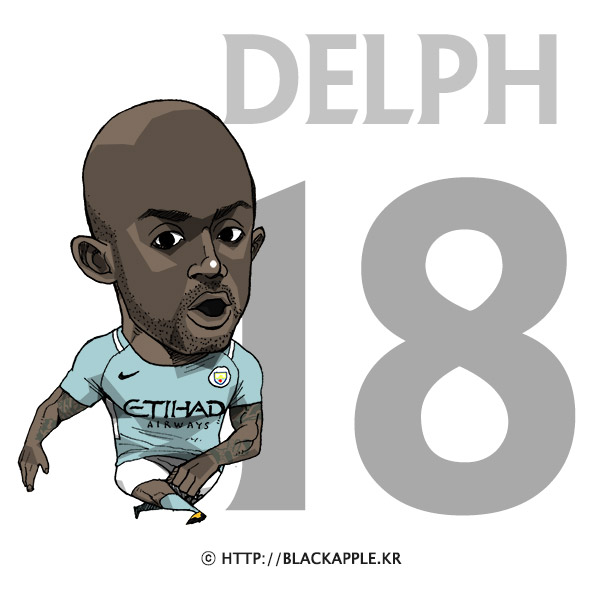 17/18 Season Mancity No.18 Fabian Delph Fan Art