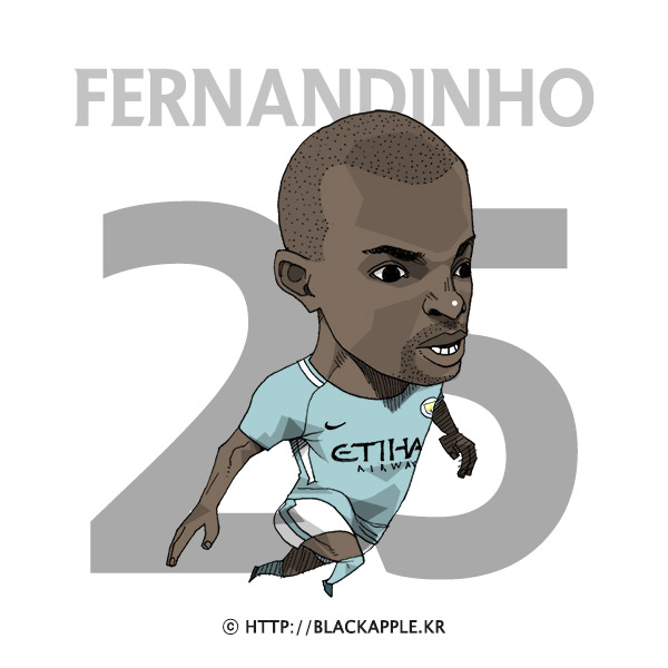 17/18 Season Mancity No.25 Fernandinho Fan Art