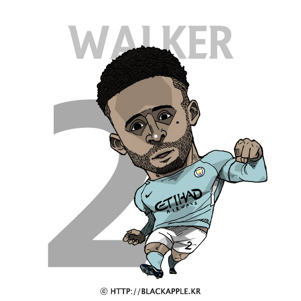 17/18 Season Mancity No.2 Kyle Walker Fan Art