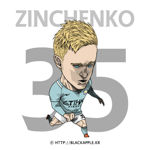 17/18 Season Mancity No.35 Oleksandr Zinchenko Fan Art