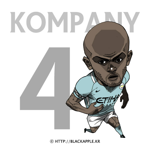 17/18 Season Mancity No.4 Vincent Kompany Fan Art