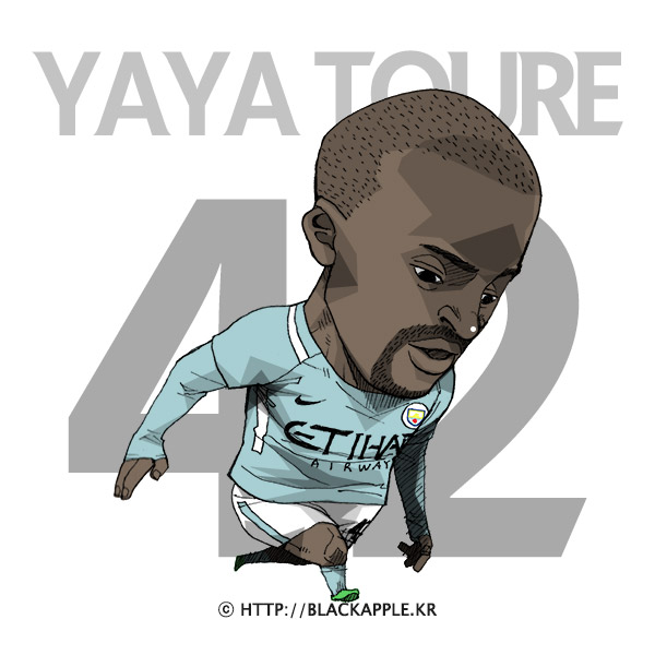 2017/18 Season Mancity No.42 Yaya Toure Fan Art