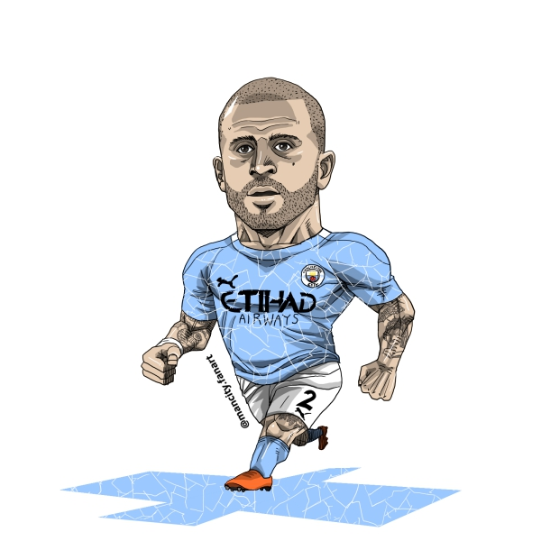 20/21 season mancity no.2 Kyle Walker fanart