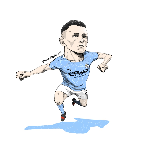20/21 season mancity no.47 Phil Foden fanart